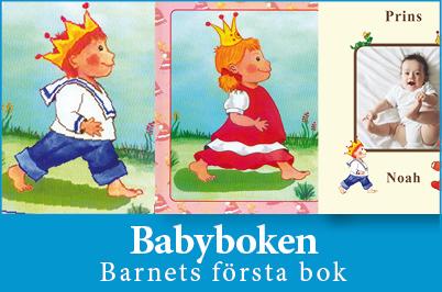Babyboken personlig bok till dop - barnets första bok - UnikaBarn