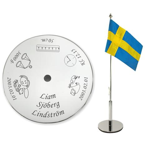 Bordsflagga med gravyr – Namngivning – med namn