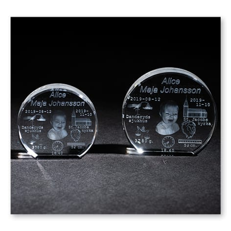 3D glasblock med 3d bild 2