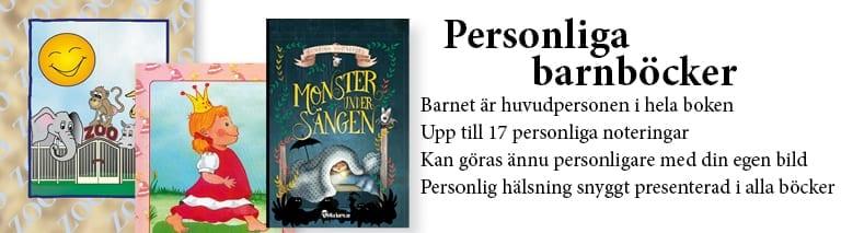 Personliga barnböcker med namn från UnikaBarn.se