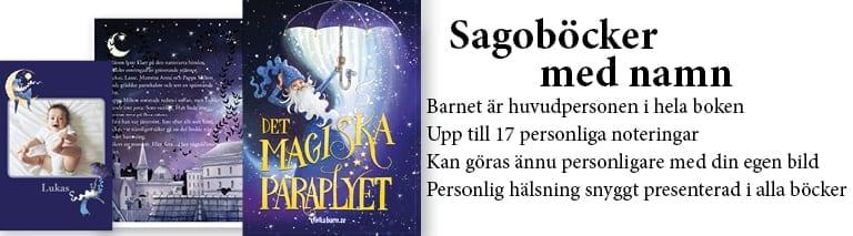 Sagoböcker med namn - UnikaBarn.se