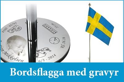 Bordsflagga med gravyr - unikabarn.se